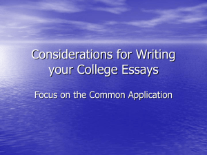PPT common application