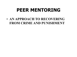 peer mentoring an approach to recovering from crime and punishment