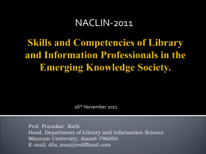 Skills and Competencies of Library and Information Professionals in