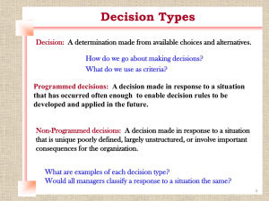 Decision Making - Learning With Larry