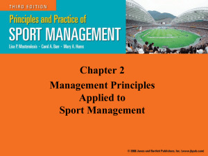 Principles & Practice of Sport Management