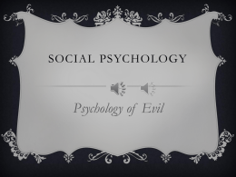 Psychology of Evil
