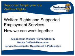 Work and Benefits - National Association of Welfare Rights Advisers