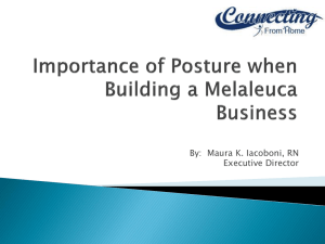 Importance of Posture when Building a Melaleuca Business
