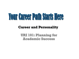 Powerpoint: Personality and Career