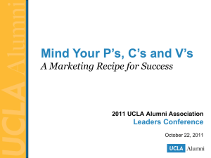 Session Notes  - UCLA Alumni Association