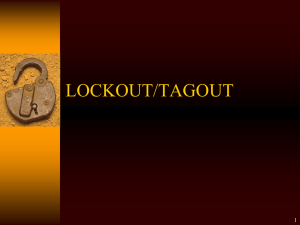Lockout Tagout Safety Training Powerpoint