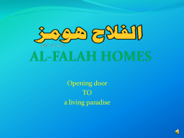 AL-FALAH HOMES - Orient Marketing
