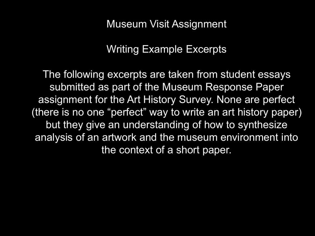 essay on museum and art gallery