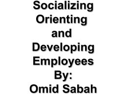 socialization chapter no 8 prepared by omid sabah