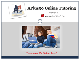 APlus50 Online Tutoring - Education Industry Association