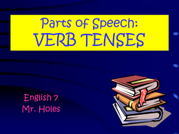 Verb Tenses PowerPoint