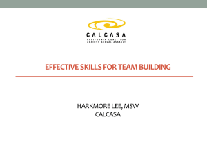 effective skills for team building