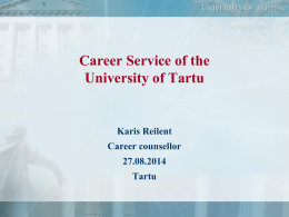 CAREER GUIDANCE IN ESTONIA