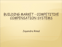 Building Market-Competitive Compensation Systems
