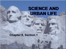 Chap 8, Sect 1 Science and Urban Life