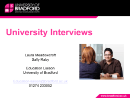 Why do universities interview?