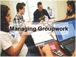 managinggroupwork - Student Learning Development