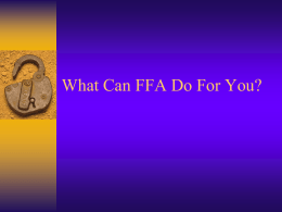 The FFA Emblem - IndeeAg.Weebly.com... we`re glad you made it!