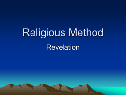 Religious method revelation JT