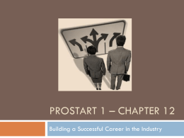 ProStart 1 – Chapter 12 - Utah Education Network