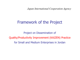 4 Framework of the Project (KAIZEN Seminar)