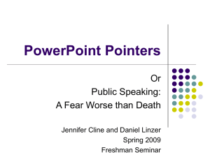 PowerPoint Pointers