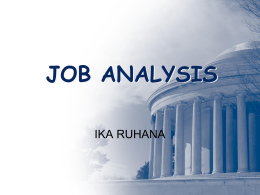 3. job analysis