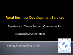 Mr Getnet Haile, Target Business Consultants, Ethiopia