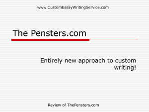 Review of The Pensters.com - Custom Essay Writing Services