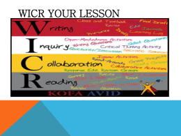 WICR your lesson