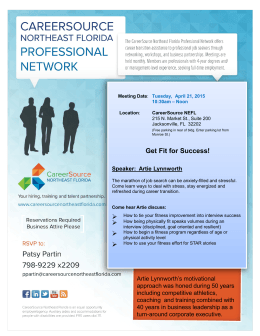 CSNEFL Professional Network Flyer for April 21, 2015