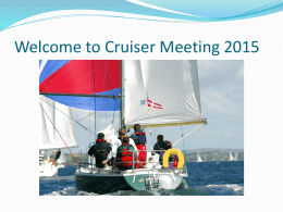 Welcome to Cruiser Meeting 2015 - Waterford Harbour Sailing Club