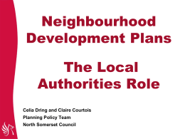 Neighbourhood Development Plans
