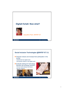 Digitalt fortalt: Now what?