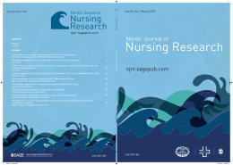Nursing R - Nordic Journal of Nursing Research