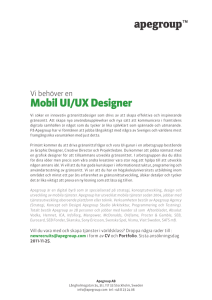 Mobil UI/UX Designer - Apegroup, your mobile first partner.
