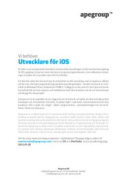 Utvecklare för iOS