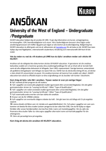 ANSÖKAN - KILROY education