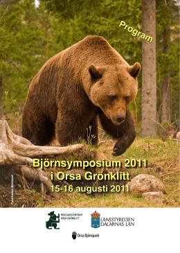 Björnsymposium 2011 i Orsa Grönklitt