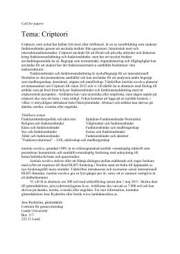 Tema: Cripteori - Lambda Nordica