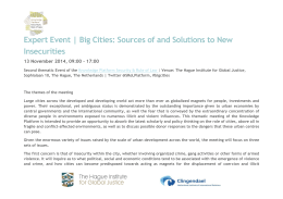 Big Cities: Sources of and Solutions to New Insecurities