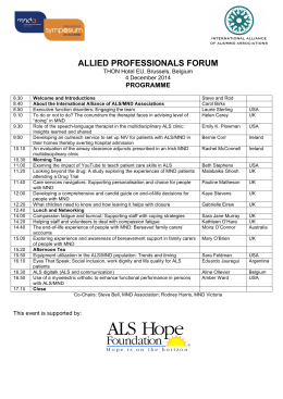 allied professionals forum - International Alliance of ALS/MND