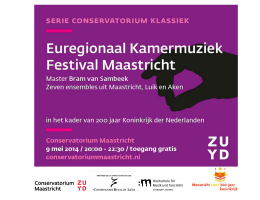 Euregional Chamber Music Festival Maastricht on Europe Day, 9