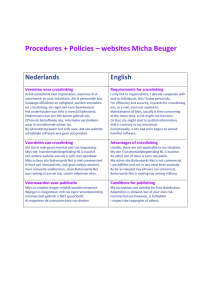 Procedures + Policies – websites Micha Beuger