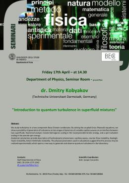 Locandina Seminario Kobyakov 17 aprile
