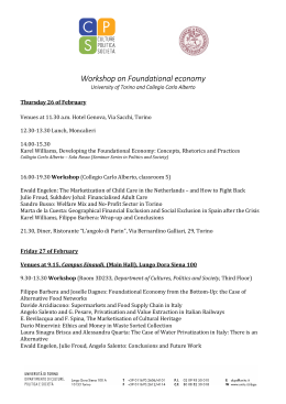 Workshop on Foundational economy