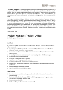 Project Manager/Project Officer
