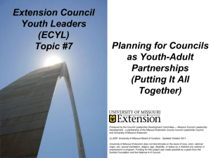 ECYL Topic 7 Powerpoint - University of Missouri Extension