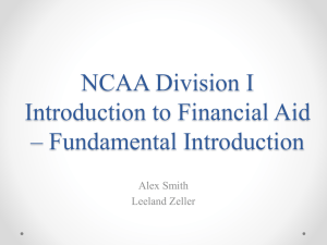 NCAA Division I Introduction to Financial Aid – Fundamental
